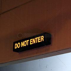 Displayanzeige Betreten verboten