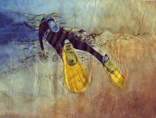 Tauchen am Meeresboden