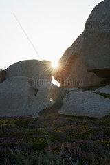 Felsen im Sonnenuntergang