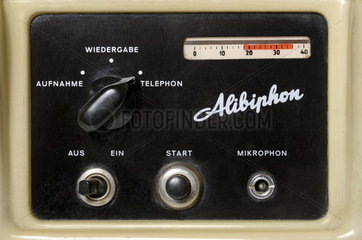 erster Anrufbeantworter  Detail  1958
