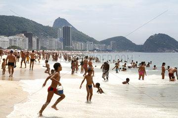 Copacabana Beach at Rio de Janeiro