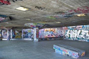 England  London  graffiti on building of South bank