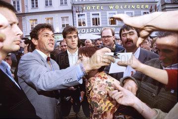 Joerg Haider  FPOe  Kundgebung Linz  1994