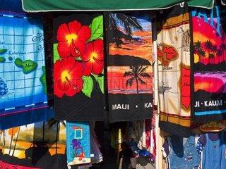 Hawaiian Beach Towels  Waikiki Beach  Honolulu  Hawaii  USA