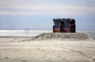 Zwei Strandkoerbe