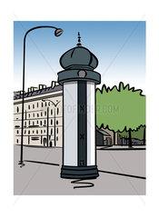 Illustration of a Morris column in Paris  France