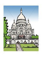 "Illustration of the Sacré-CÅ""ur in Paris  France"