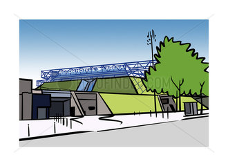 Illustration of AccorHotels Arena (formerly Palais Omnisports de Paris Bercy) in Paris  France
