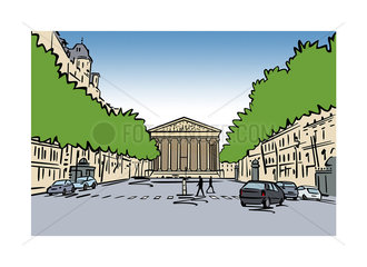 Illustration of La Madeleine  Paris  France