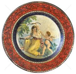 uralter Teller  Biedermeier  Liebesmotiv  1825