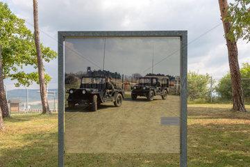 Rasdorf  Deutschland  Foto einer Patrouille von US-Soldaten auf dem Gelaende der Gedenkstaette Point Alpha