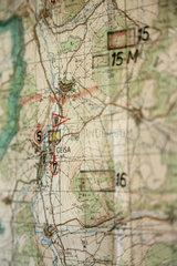 Geisa  Deutschland  eine Landkarte im Museum der Gedenkstaette Point Alpha