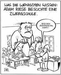 Adam Riese auf der Zwergschule
