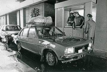 Grenzkontrollen deutsch-oesterreichische Grenze  1988