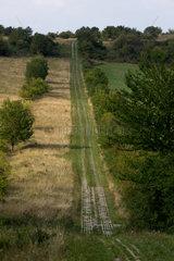 Wiesenfeld  Deutschland  frueherer Kolonnenweg fuer die NVA-Grenztruppen