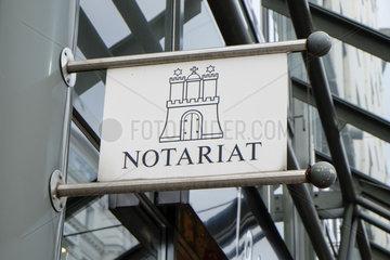Schild Notariat