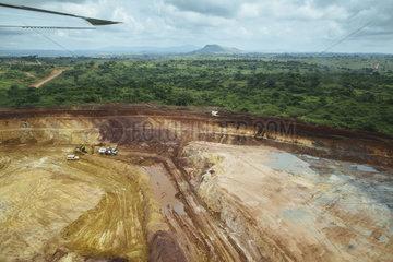 Kupfer- und Kobaltmine in De Doko im Norden