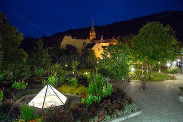 Badenweiler  Deutschland  beleuchteter Kur- und Schlosspark Badenweiler