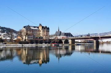 Bernkastel Stadtteil Kues in Rheinland-Pfalz im Winter