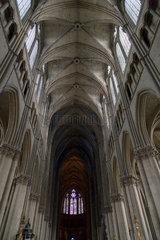 Reims  Frankreich  Deckengewoelbe der Kathedrale Notre-Dame von Reims