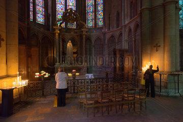 Reims  Frankreich  in der Kathedrale Notre-Dame von Reims