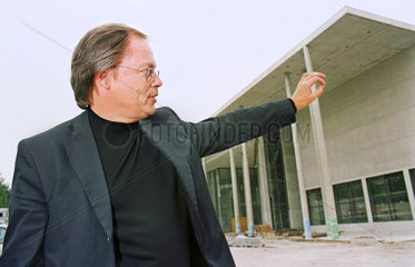 Stephan Braunfels  Architekt  Baustelle Pinakothek der Moderne  2000
