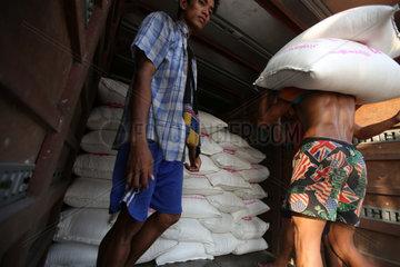 MYANMAR-YANGON-RICE EXPORTING