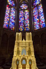 Reims  Frankreich  Modell der Kathedrale Notre-Dame von Reims