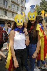 Barcelona  Katalonien  Spanien - Demonstration fuer die Unabhaengigkeit