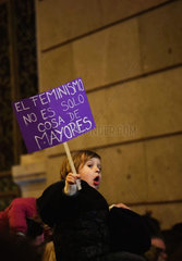 SPAIN-MADRID-WOMEN-MANIFESTATION