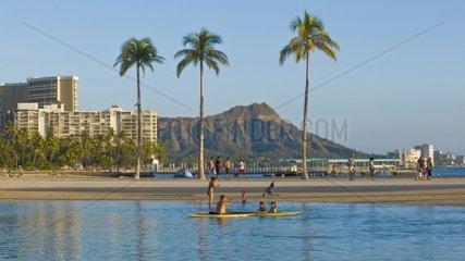 USA  Honolulu (Oahu) Hawaii  Waikiki Beach