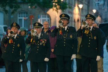 Ypern  Belgien  The Last Post-Zeremonie am Menenpoort