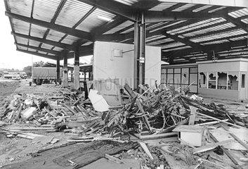 Abriss Grenzuebergang Rudolphstein  Oktober 1990