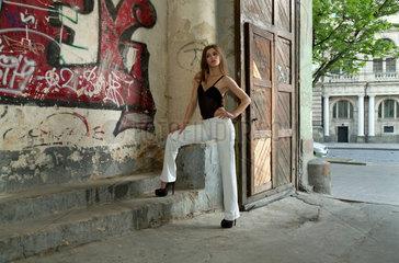 Lemberg  Ukraine  Model bei einem Foto-Shooting