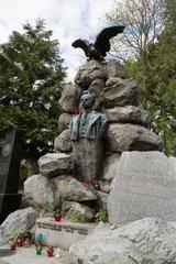 Lemberg  Ukraine  Grab von Stanislaw Szczepankowski auf dem Lytschakiwski-Friedhof