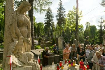 Lemberg  Ukraine  Grab von Artur Grottger auf dem Lytschakiwski-Friedhof