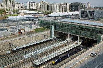 London  Grossbritannien  der neue Bahnhof Stratford International