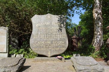 London  Grossbritannien  Grab von William Booth auf dem Abney Park Cemetery