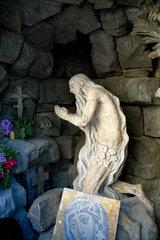 Lemberg  Ukraine  Skulptur des Heiligen Onuphrius vor der St.-Georgs-Kathedrale