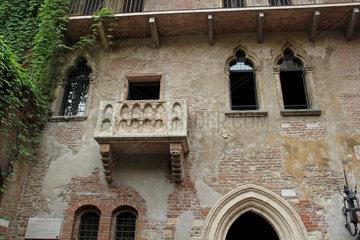 Verona  Haus und Balkon der Julia  Italien