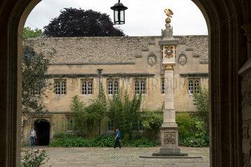 Oxford  Grossbritannien  Innenhof des Corpus Christi College
