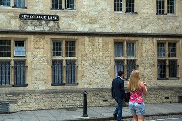 Oxford  Grossbritannien  Strasse New College Lane