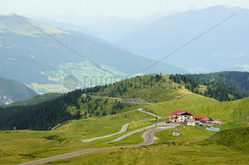 Passo Giovo Street in the South Tyrolean Alps