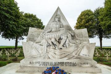 Neuville-Saint-Vaast  Frankreich  Denkmal fuer die tschechoslowakischen Freiwilligen