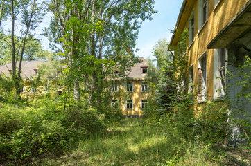 Hillersleben  Deutschland  verlassene Kaserne der Roten Armee
