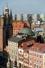 Thorn  Polen  Blick ueber die Altstadt mit Altmarkt