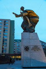 Warschau  Polen  Denkmal des Priesters Ignacy Skorupka