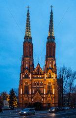 Warschau  Polen  Kathedrale St. Michael und St. Florian im Stadtteil Praga