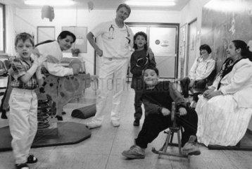 Arzt Visite im Kinderkrankenhaus