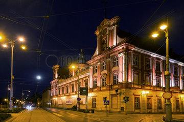 Breslau  Polen  die Ossolinski-Nationalbibliothek Breslau